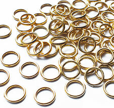 100 Strong Gold Plated 10mm Closed Soldered Jump Ring Connector Link 1.2mm thick