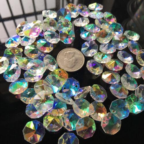 50PC Rainbow Crystal Bead Aérographe verre lampe prisme Lustre À faire soi-même Pendentif Suncatcher
