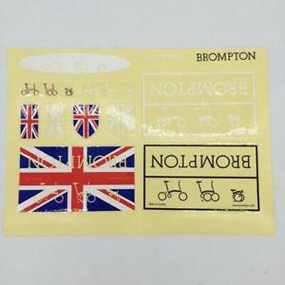 Free Shipping Brompton bicycle custom frame decal sticker set titanium