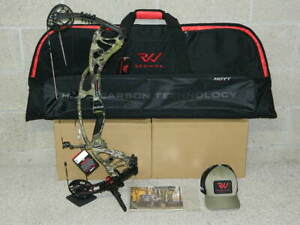"""NEW LEFT Handed Hoyt Carbon RX-4 TURBO Bow - 50/60 lb- REDWRX- RX4- 26 to 28"""""""