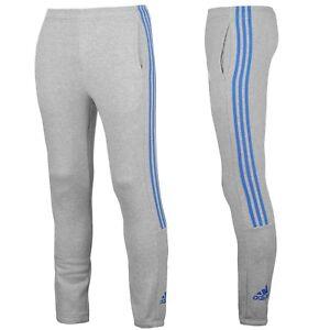 Adidas-3-Streifen-Pantaloni-Felpate-Tuta-Uomo-Training-Sportivi-Grigio-Mr-S-2XL