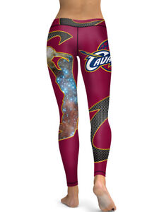 reputable site 49588 628b1 Details about Cleveland Cavaliers Leggings Small-XXL (0-14) Basketball  Women Fan Gear Gift Cav