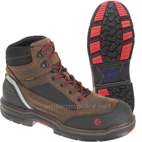 """Wolverine Work Boots Mens Overman Waterproof CarbonMax Safety Toe 6/"""" Boot W10483"""