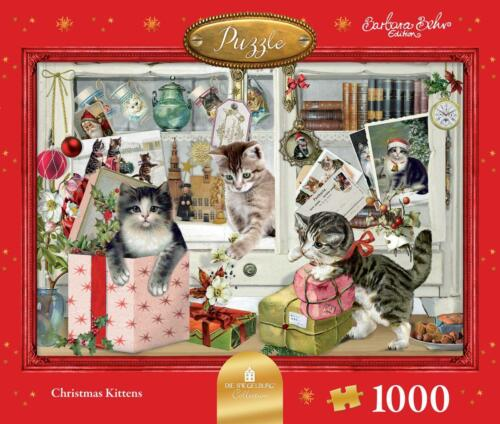 NEW! Christmas Kittens by Barbara Behr 1000 piece jigsaw puzzle 14130