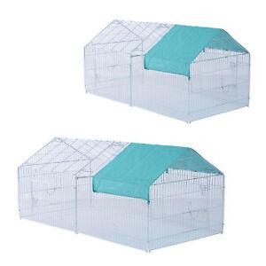 PAWHUT - Gabbia Recinto Box da Esterno Area di Corsa per Animali Piccoli Conigli
