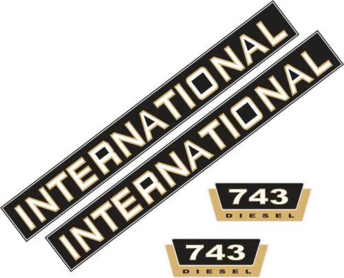 Schlepper IHC Traktor 743 Aufklebersatz Aufkleber für International 743