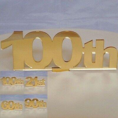 Capace Celebration Numero Cake Topper Acrilico Oro (scegliere Tra I Numeri Da 101 A 110)-mostra Il Titolo Originale Essere Romanzo Nel Design