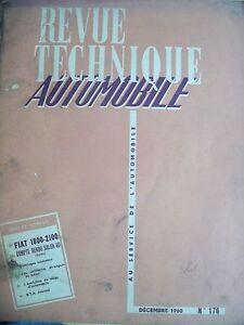 100% Vrai Fiat 1800 2100 - Revue Technique Automobile Haute SéCurité