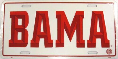 UNIVERSITY OF ALABAMA LICENSE PLATE BAMA ROLL TIDE L586