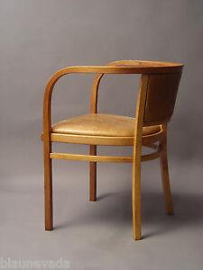 thonet otto wagner bugholz sessel stuhl leder jugendstil ebay. Black Bedroom Furniture Sets. Home Design Ideas