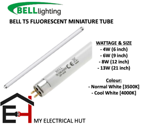 "830-835 uk BRANDED T5 FLUORESCENT TUBE 4W 6W 8W 13W 6/"" 9/"" 12/"" 21/"""