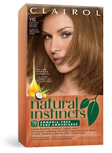 Clairol Natural Instincts 11g Lightest Golden Brown Amber Shimmer