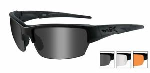 Wiley-X-Eyewear-CHSAI06-Saint-Safety-Glasses-Smoke-Grey-Clear-Matte-Black-Frame