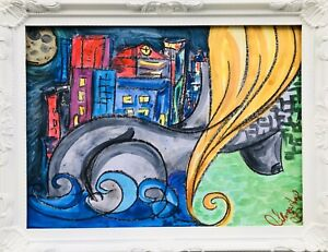 Margarita-Bonke-Malerei-Zeichnung-painting-City-Stadt-surrealismus-Erotica-Akt
