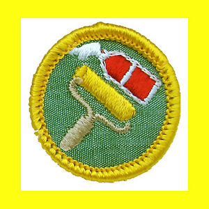 GRAPHIC-ARTS-Cadette-Girl-Scout-NEW-Badge-Patch-Roller-Paint-Multi-1-Ship-Chrg