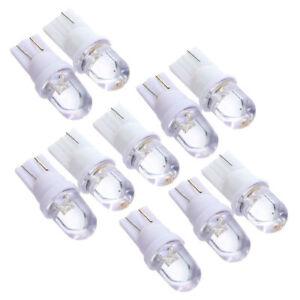 10-X-T10-LED-12V-Bombilla-Lampara-Luz-con-Cupula-Matricula-del-Coche-Blanco-T5