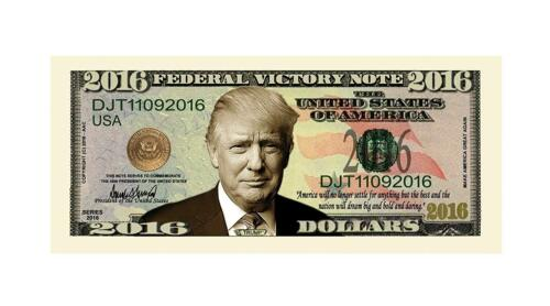 5 Donald Trump President Money Fake Dollar Bills 2016 Federal Victory Note Lot