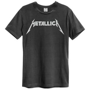 Officiel-Metallica-Amplified-Logo-Noir-Unisexe-T-Shirt-Licensed-Tee