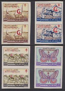 Acheter Pas Cher Dubai 1964 Anti Tuberculose Sg101-104 Comme Neuf Imperf Paire Top PastèQues