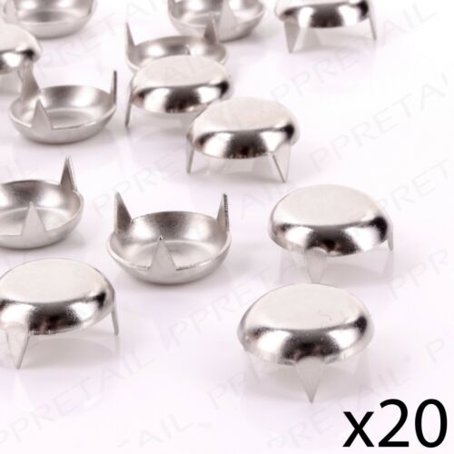 20 x NICKEL FURNITURE GLIDE 19mm Knock In Table Chair Leg Protector Feet//Pads