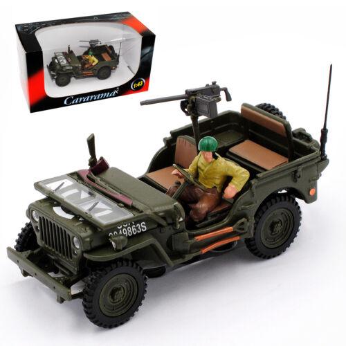 4. Camión de ejército de 1//4 tonelada de Jeep Willys Grün ejército de Estados Unidos 2ª Guerra Mundial abiertamente con rifle 1