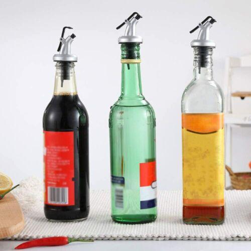 3pcs Olive Oil Pourer Spout Liquor Dispenser Wine Pourer Flip Leak Proof Stopper