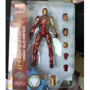 Marvel Select Mark XLIII Armor Iron Man MK43 PVC 7in Action Figure in box