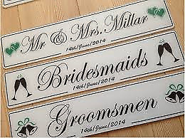 Wedding - Custom Number Plates made to order