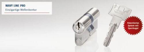 30//30 Abus Wavy Line Pro Profilzylinder Schließzylinder Knaufzylinder Bohrschutz