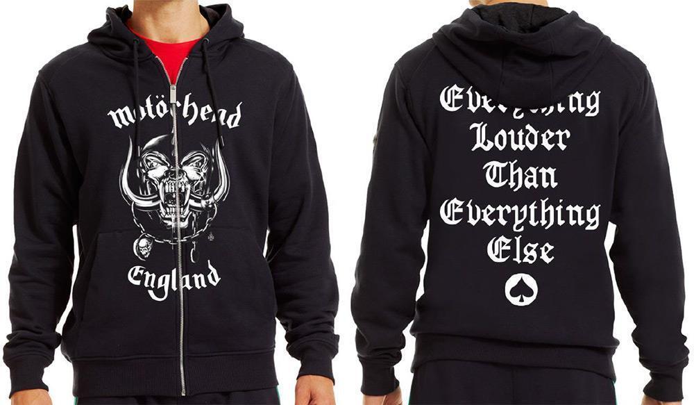 Official lizensiert - Motorhead - England Reißverschluss Kapuzenpulli Lemmy