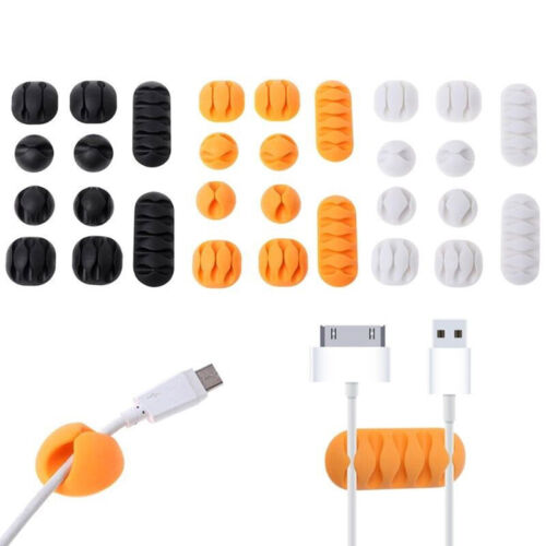 10X Durable Cable Mount Clips Self-Adhesive Desk Wire Organizer Cord Holder  PX