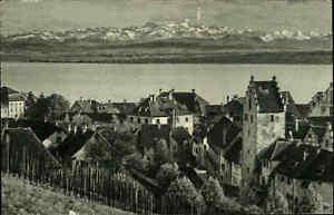 MEERSBURG-Bodensee-Altstadt-Panorama-Heimatbeleg-im-Postkarten-Format-1930-40