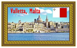 Valletta,Malta - Souvenir Neuheit Kühlschrank Magnet - Geschenk/Sights/Flaggen -
