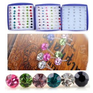 20Pairs-Whole-sale-Bulks-Lots-Crystal-Earring-Stud-1Box-Allergy-Free-Neddle-Gift