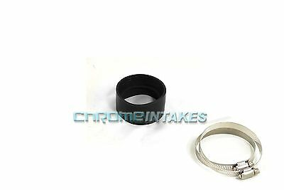 """BLACK 3.5""""-3.5"""" AIR INTAKE/PIPING RUBBER COUPLER FOR DODGE"""