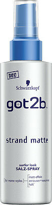 (36,60€/L) 150 ml Schwarzkopf got2b Strand Matte surfer LOOK Salz-Spray **NEW