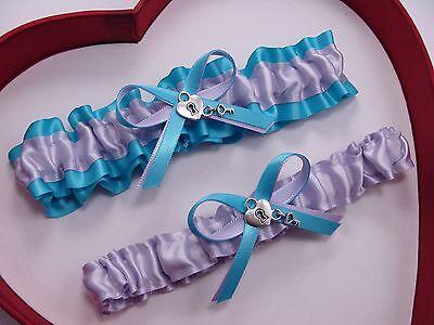NEW Gorgeous Lavender Light Blue Wedding Garter Prom Homecoming GetTheGoodStuff