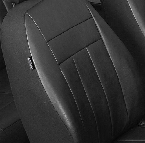 Maßgefertigte Vordersitzbezüge Kunstleder Schwarz für Opel Corsa D