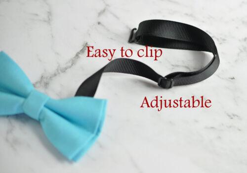 Father Son Match 100/% Cotton Handmade Matte AQUA BLUE  Bow Tie Bowtie Wedding