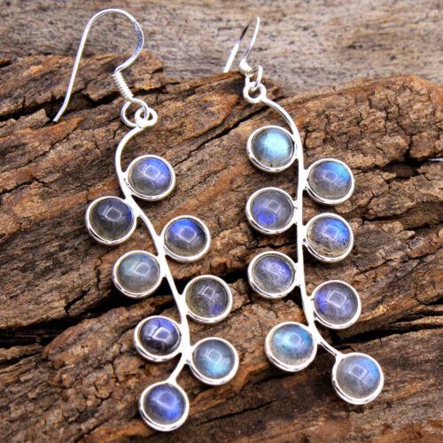 Xams Sale-Labradorite Gemstone Handmade 925 Sterling Silver Dangle Earring
