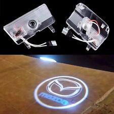 2x LED mazda Logo Door Courtesy Laser Shadow Lights For Mazda 6 ATENZA 2014-2017