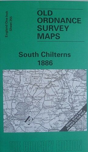 OLD OS Map Ruislip Amersham High Wycombe Chalfont St Peter Area 1886 Sheet 255