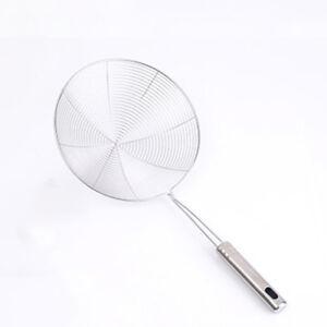 Siebkelle-Frying-Pakora-Chips-Useful-Heavy-Steel-Skimmer-Kuchenwerkzeug-Gut-G9A