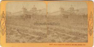 Spagna Palais Da L Escurial Foto J.Andrieu Stereo Vintage Albumina Ca 1870