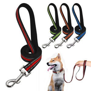 Durable-Large-Dogs-Nylon-Dog-Lead-Reflective-Training-Lead-for-K9-Dogs-Pit-Bull
