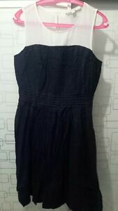 Loft-by-Ann-Taylor-Navy-Blue-Dress