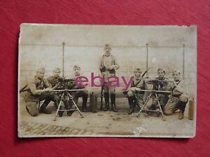 photographie-CPA-carte-PHOTO-militaire-5-DRAGONS-GROUPE-DE-MITRAILLEUSES