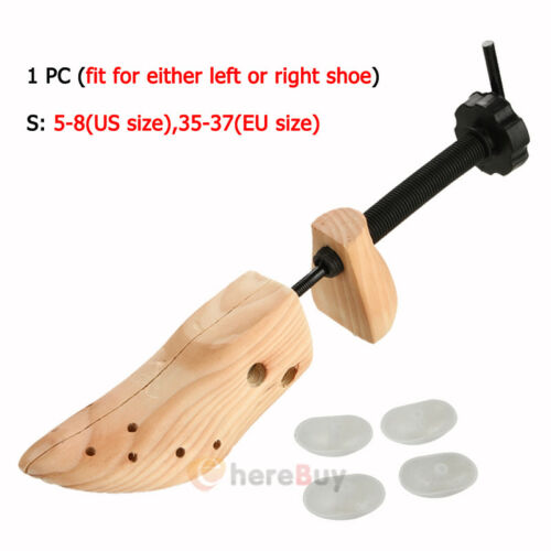 Pair of Professional 2-way Wooden Adjustable Shoe Stretcher for Men//Women 5-10