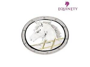 EquinEty-Sterling-Silver-Diamond-Horse-Pony-Brooch-Pin-Equestrian-Jewellery-Gift