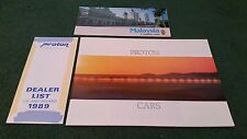 1988 1989 PROTON SALOON & HATCHBACK UK BROCHURE + DEALER LIST + MALAYSIA FOLDER